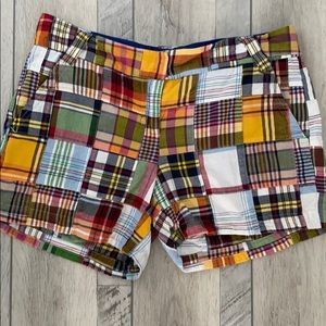 J. Crew plaid City Fit shorts